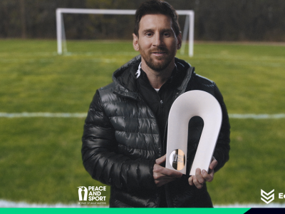 Lionel Messi Champion Paix Peace and Sport Ecolosport