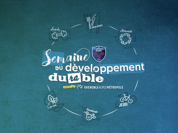 Semaine Développement Durable FC Grenoble Rugby Ecolosport