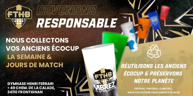 FTHB Frontignan Thau Handball Ecologie Ecolosport