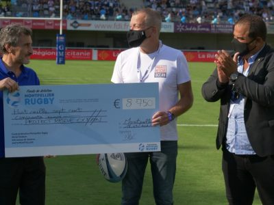 MHR Montpellier Rugby Project Rescue Ocean Cheque Ecolosport