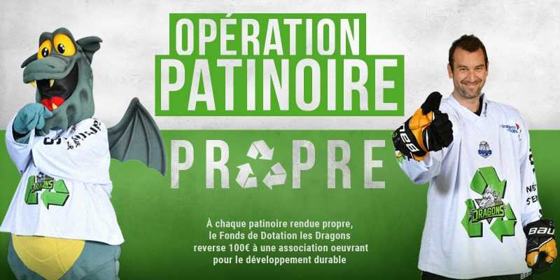 Dragons Rouen Fonds de Dotation Bouchons 276 Ecologie Hockey